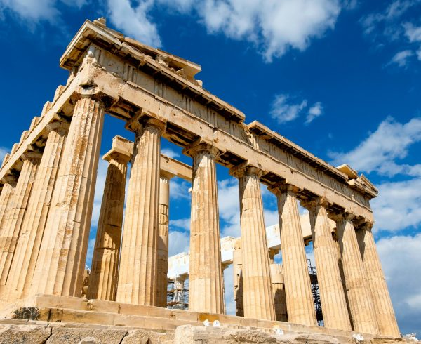 Parthenon on a sunny day