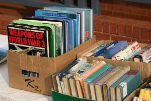 Boxes full of books.