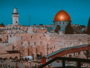 The Temple Mount in Jerusalem. This city is a top sight: do not miss the visit to it after moving to Israel.