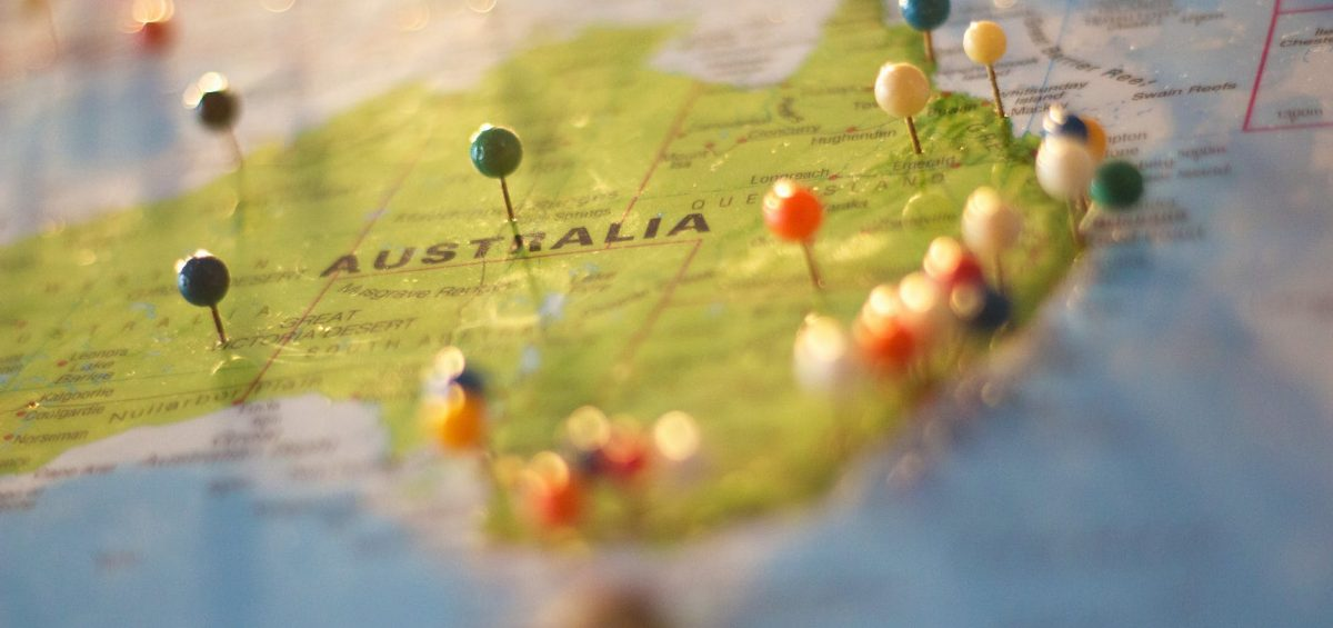 Putting pins on the map and making moving to Australia your goal.