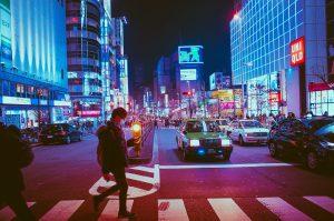 A street in Osaka.