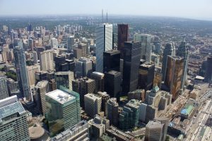 The best neighborhoods in Toronto a view from the sky.