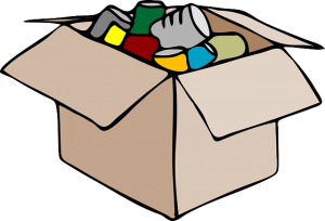 Unpacking moving box.
