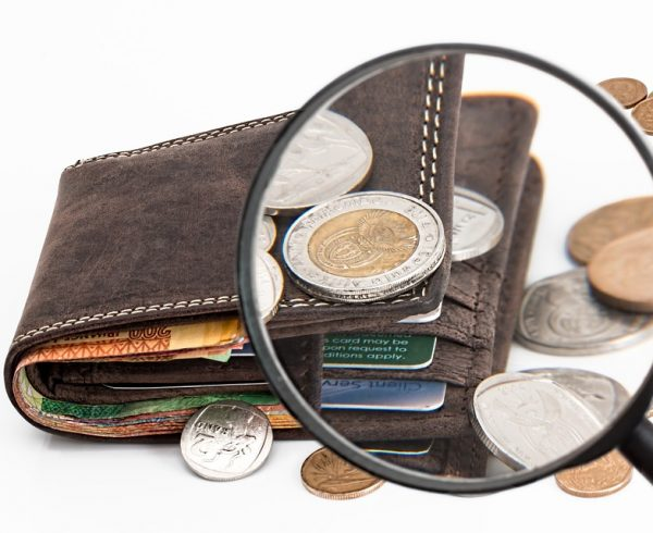 An office relocation budget coming out of a wallet.