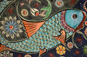 A mosaic of a fish