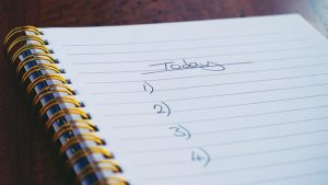 Do tasks in your personal checklist on a daily basis to declutter when relocating