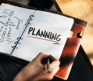 "A planner with written ""planning"" on it."