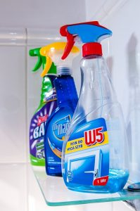 Cleaning products are on the list of things movers won't move