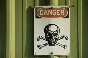 The sign danger