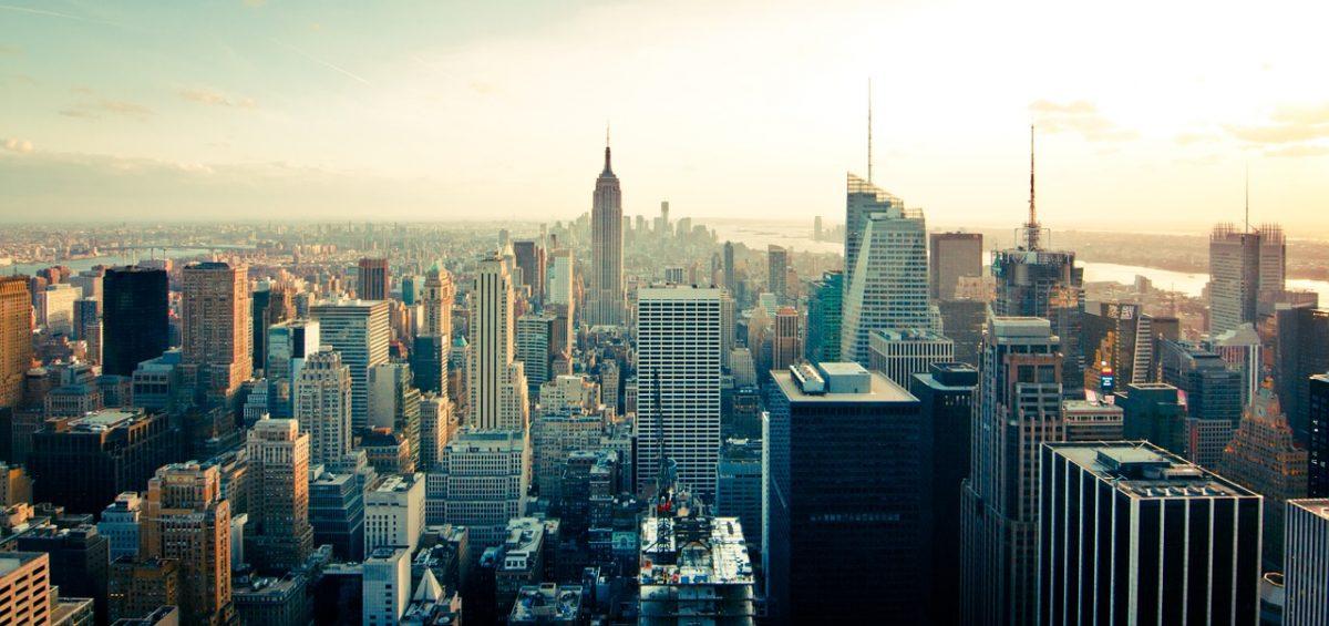 A Manhattan cityscape.