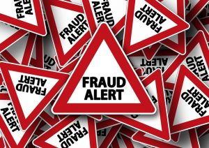 Fraud alert sign - Find out how to avoid moving scams