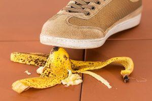 Sliping on a banana