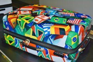 Plastic suitcase