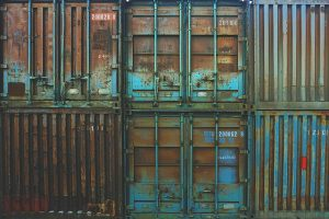 Containers, storage units.