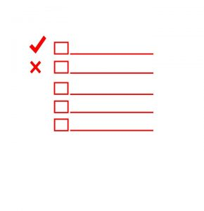 A red checklist before movers organize your local move in Japan.