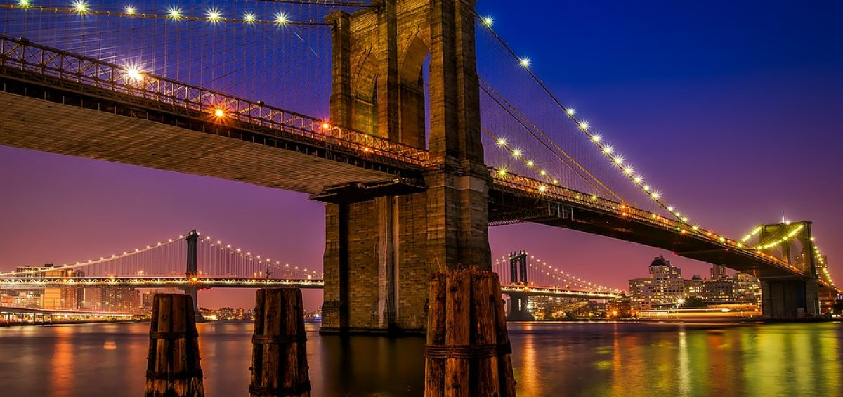 The view of Brooklyn Bridge by night students can enjoy because Brooklyn is one of the best NYC neighborhoods for students.