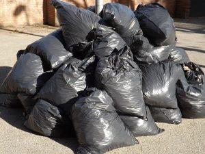 Garbage bags.