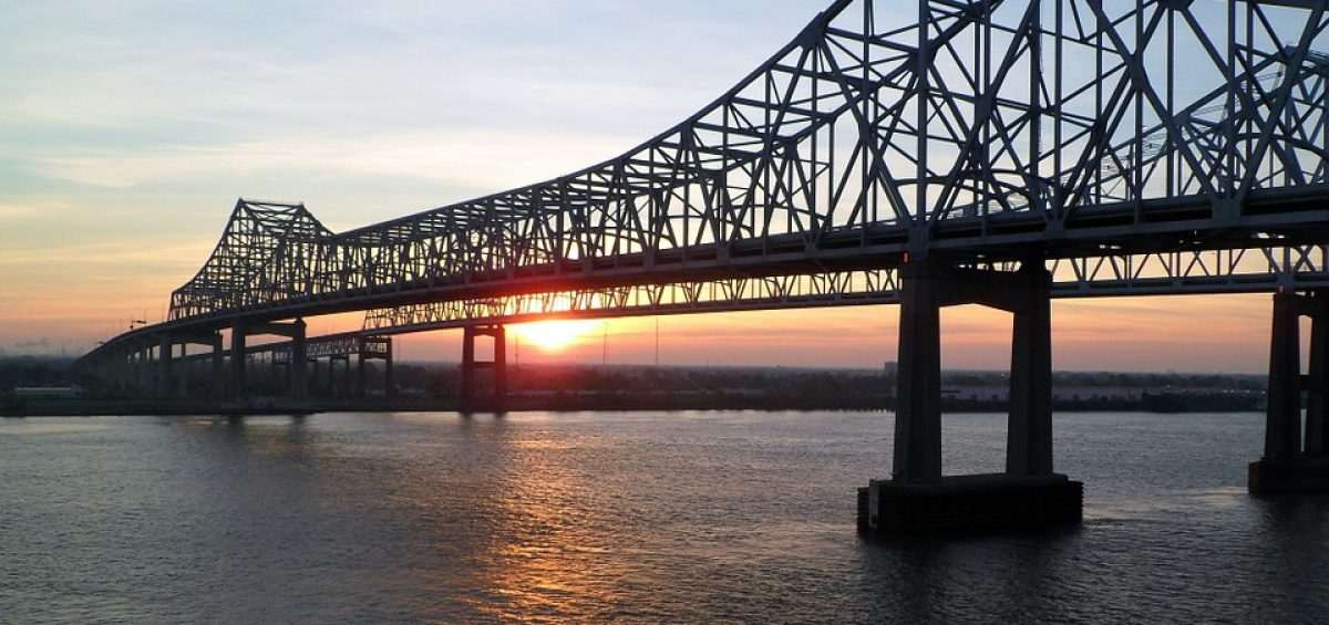 Mississippi Bridge at sunrise.