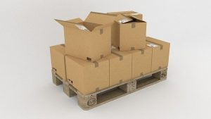 Cardboard boxes as a part of eco-friendly packing tips.