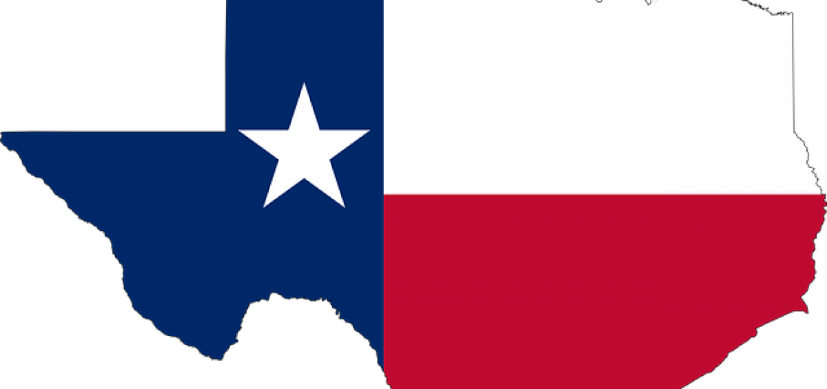 Texas flag for looking the best places for starting a family in Texas.