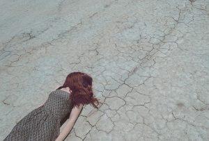 A girl felt down