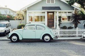 Car and house.