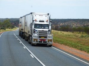 A truck on a road.