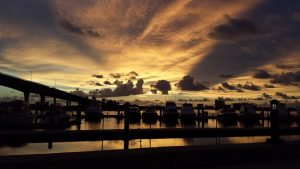 Sunset in a harbor of Clearwater.