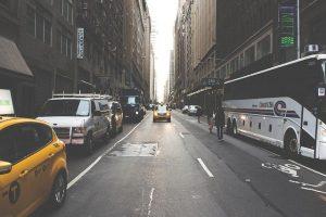 A street in Manhattan.