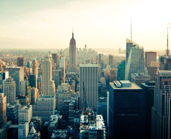 A view of Manhattan.