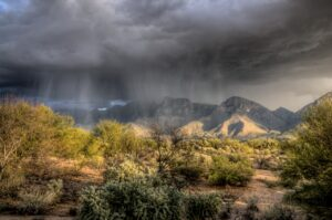 A view at the mountains in Oro Valley, one of the small towns of Arizona for your family business.