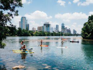 Lake view of Austin
