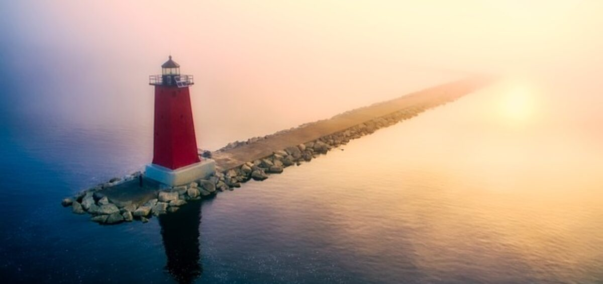 A lighthouse is in of the most charming places of Michigan!