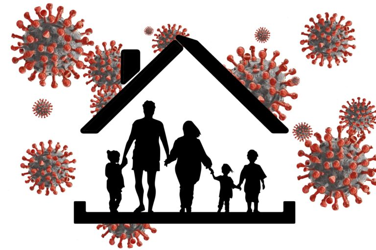 family in a house during covid-19 pandemic