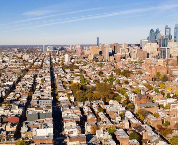 An aerial view of Philadelphia