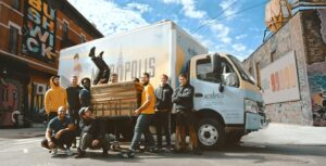 A team of movers of one of the best moving companies in New Mexico.