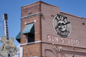 The famous Sun Studio in Memphis.