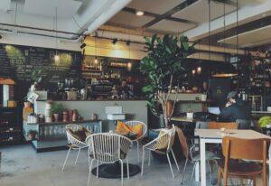 Interior of a cafe shop